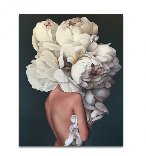 Obraz na płótnie kobieta kwiat